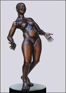 Freedom - Bronze Sculpture of Woman, Nude by Eleanor Seeley