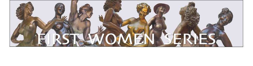 Eleanor Seeley Sculpture Gallery - First Women Series in Bronze, Page 3 - art collectors buy sculptures of women, bronze nudes, nude female figure, female form in bronze, statuette, bronze or resin, macquettes