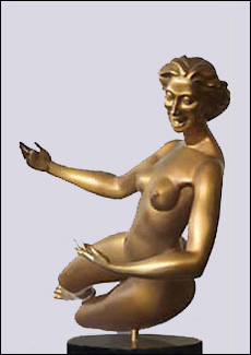 True Water - Sculpture of Woman, Nude by Eleanor Seeley - bronze or resin